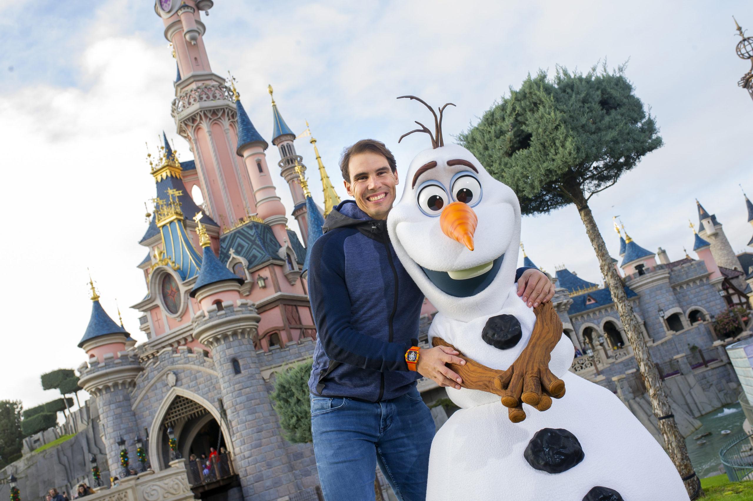 Rafael Nadal avec Olaf