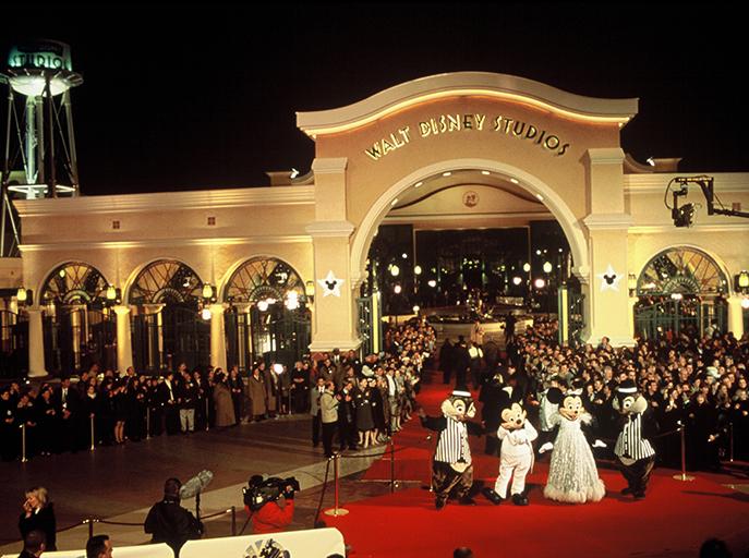 L'inauguration des Walt Disney Studios