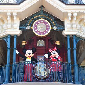 Mickey et Minnie accueillent les visiteurs