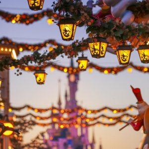 Halloween Festival Disney decoration at Disneyland Paris