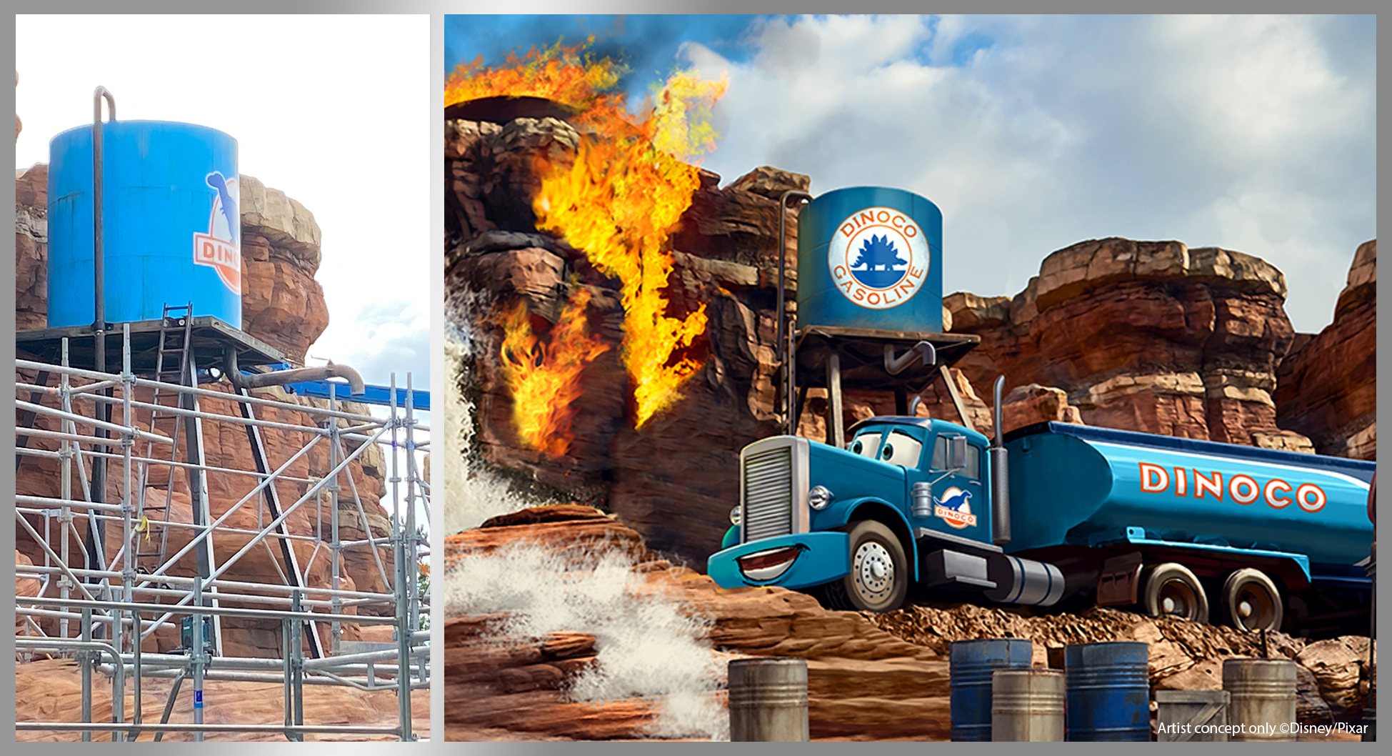 Cars Route 66 Road Trip coming soon at Disneyland Paris